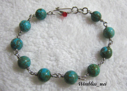 Wire wrapped Turquoise Bracelet