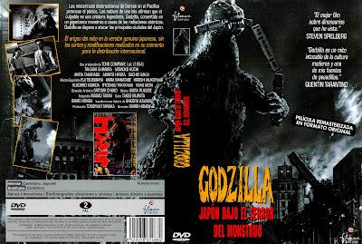 Carátula dvd: Godzilla Japón bajo el terror del monstruo 1954