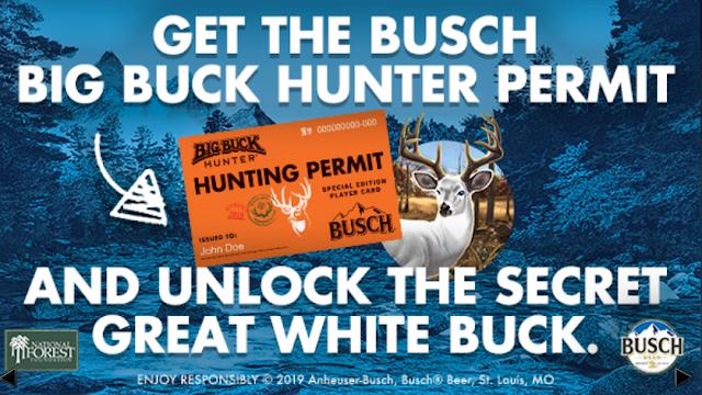 Busch Beer will be offering Busch Bucks members a chance to enter to win a Busch x Big Buck Hunter Arcade Unit worth $7000!