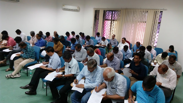 Picture of trainees appearing in the Written Test post the Access Audit Training