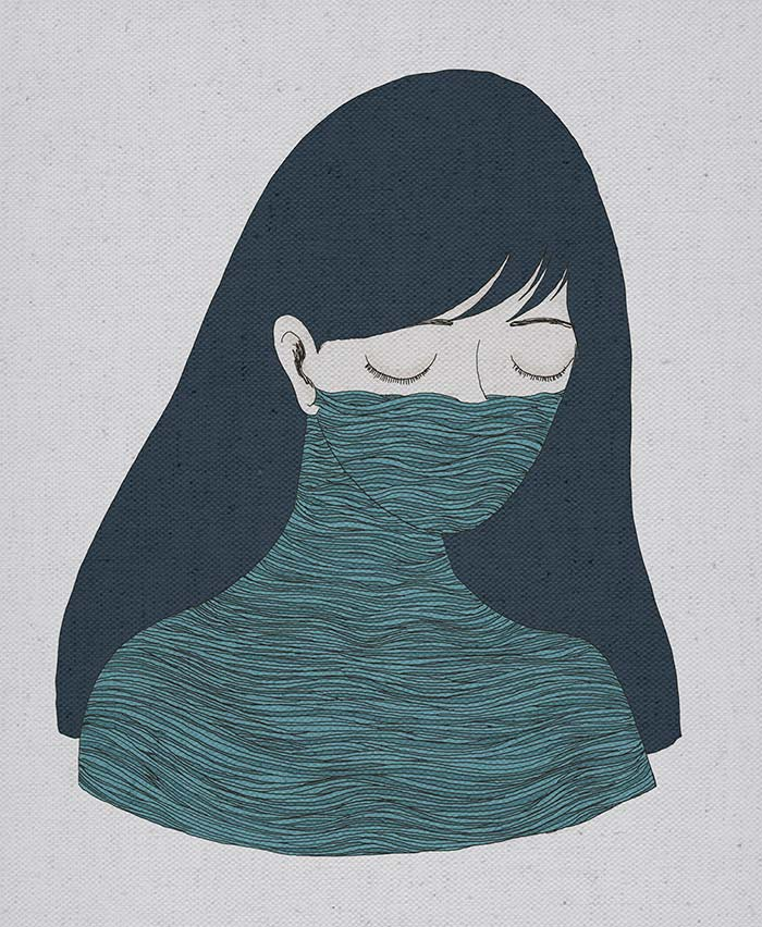 Ilustración, Tristeza de Mayra Arvizo