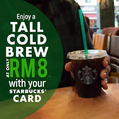 Starbucks Cold Brew RM8 Monday Promo