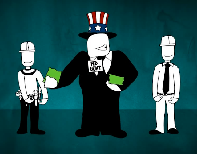 Federal government Uncle Sam paycheck withholding tax refunds drawing