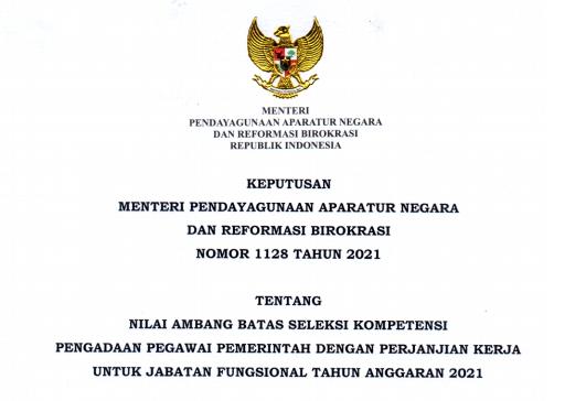 Keputusan Menpan RB atau Kepmenpan RB Nomor 1128 Tahun 2021