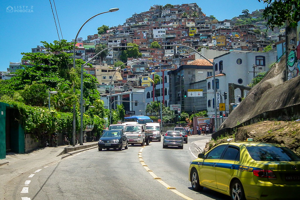 Fawela Vidigal w Rio de Janeiro