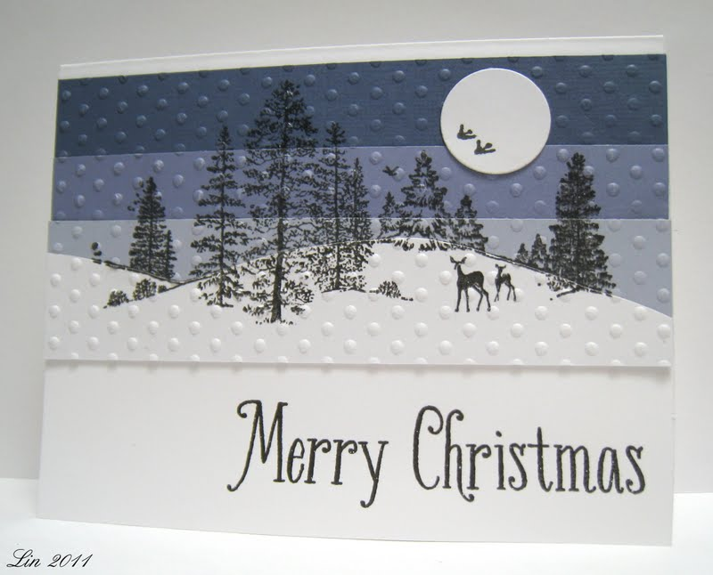 Sending Hugs: Christmas cards using Hero Arts stamps
