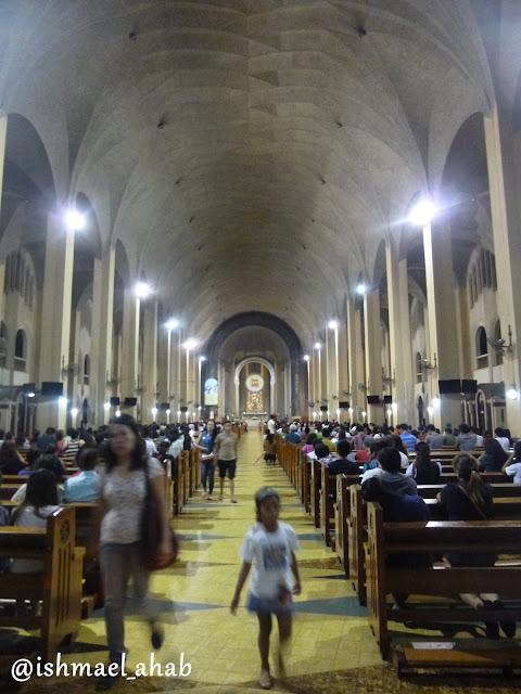 Inside Baclaran Church in Pasay City