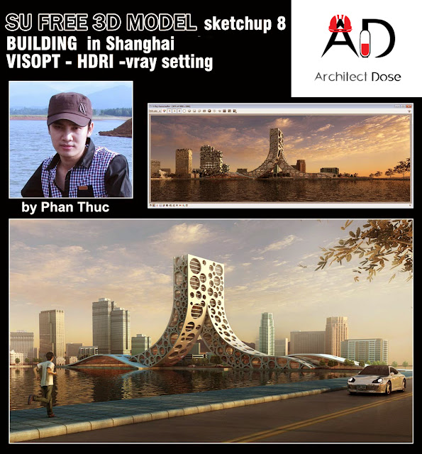 Sketchup 3d model moderne Building in Shanghai