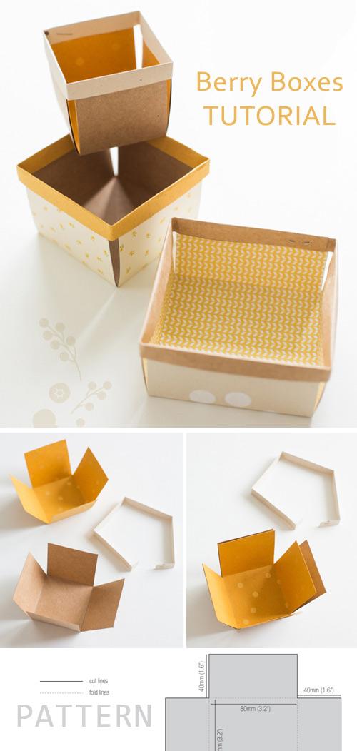 DIY Berry Boxes. Tutorial & Pattern