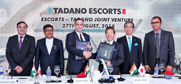 एस्कॉर्ट्स ने जापान के तदानो ग्रुप के साथ उच्च क्षमता मोबाइल क्रेन्स के लिए संयुक्त उपक्रम बनाया : निखिल नंदा