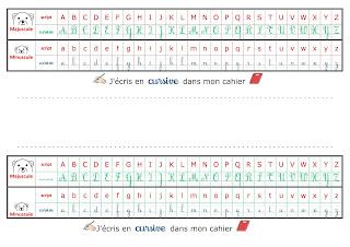 Réglette de l'alphabet en 4 formes 3AP