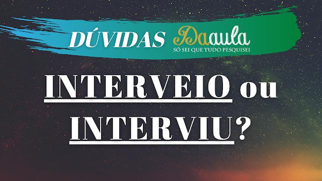 """O governo """"interviu"""""""