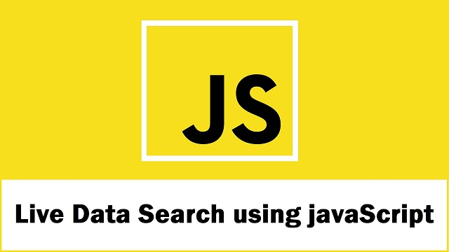 Ajax Live Data Search using javaScript with PHP