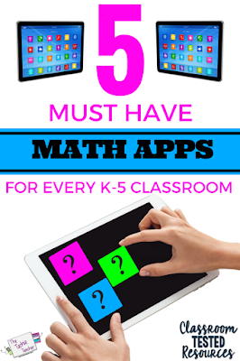 5 Must Have Math Apps for every K-5 Classroom