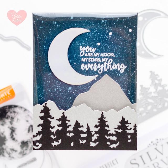 Frameless Shaker Card,blog hop,Giveaway,#tonicstudios,Tonic Studios,Tonic Shaker Creator Pockets,#tonicstudiosstampclub,Shoot for the Stars,#tonicstudiosusa,Shoot for the Moon,