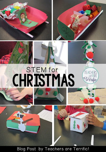 STEM Challenges for Christmas! Four amazing challenges that all feature a Christmas theme!