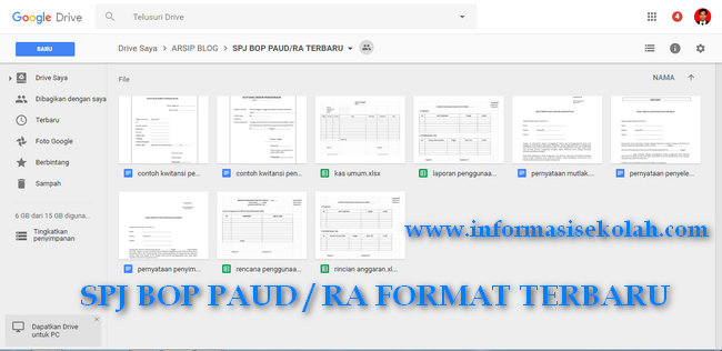 Download SPJ BOP PAUD / RA Format Terbaru
