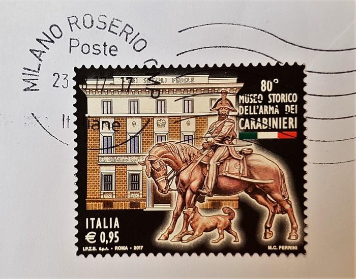 francobollo MUSEO STORICO DELL'ARMA DEI CARABINIERI 80°