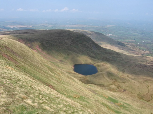 Walks-in-South-Wales-Pen-Y-Fan-image-of-llyn-cwm-llwch