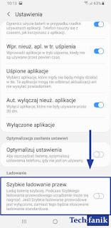 Samsung Galaxy S9+ Wyłączanie Szybkiego Ładowania Przewodowego