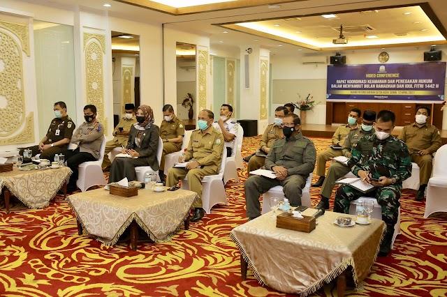 Asisten I Ikut Rakor Keamanan Jelang Ramadhan dan Penagakan Hukum Idul Fitri