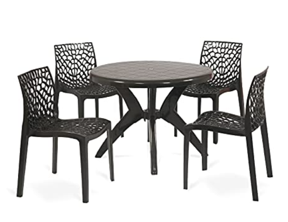 OAKNEST Supreme Web with Marina Dining Room Set for Indoor and Outdoor Use