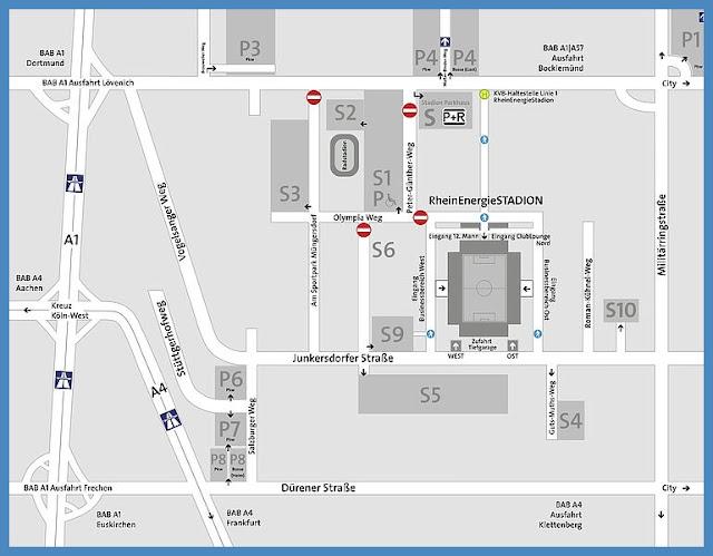 RHEINENERGIESTADION Köln STADIONGUIDE from Rhein energie stadion karte, Rhein Energie Stadion Karte, Rhein Energie Stadion Karten