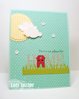 There's No Place Like Home card-designed by Lori Tecler/Inking Aloud-stamps from Sugar Pea Designs