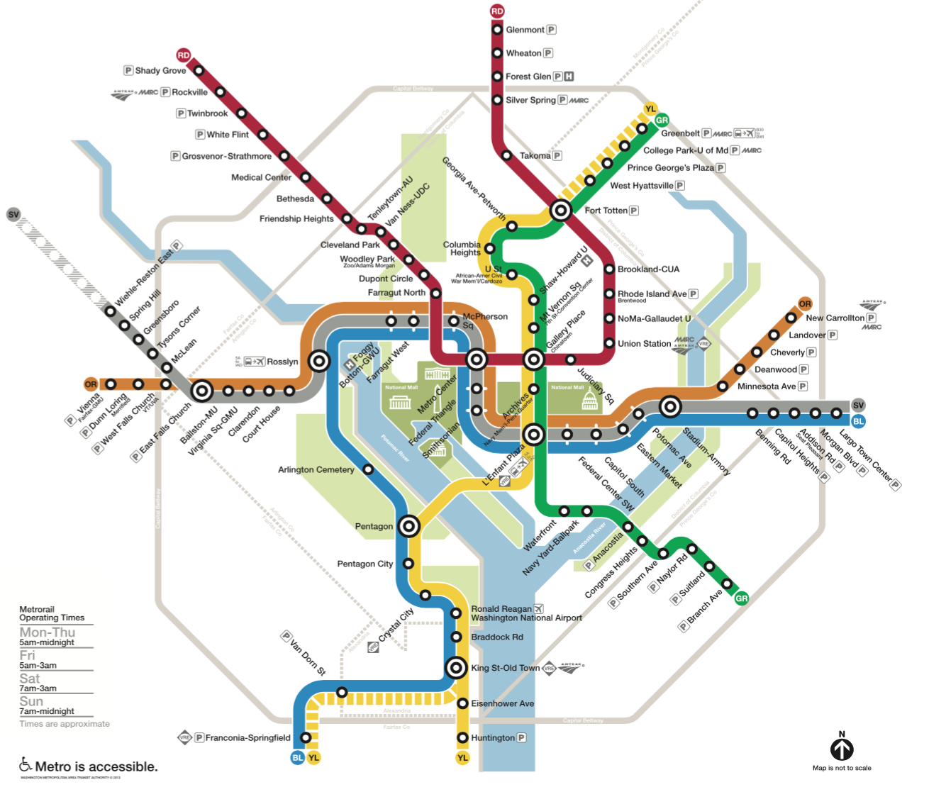 If you're relying on WMATA's metro, familiarize yourself with the map. In particular, note the triangle created by the Mount Vernon / Convention Center stop ...