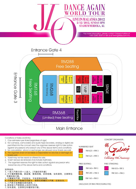 Malaysia Jennifer Lopez Concert