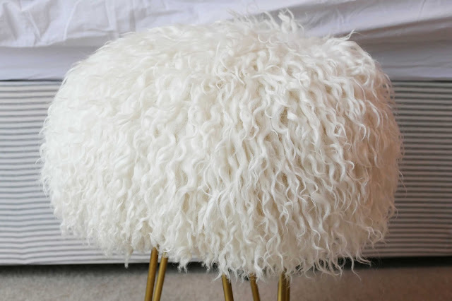 design and hide uk, design and hide brand, sheepskin stool hairpin, sheepskin stool uk, sheepskin stool hairpin legs, custom sheepskin stool