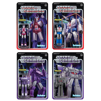 Transformers Generation 1 ReAction Figures Wave 3 by Super7 – Alpha Trion, Mirage, Shockwave & Astrotrain