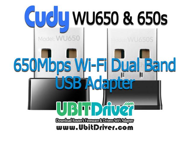Cudy Driver WU650 & WU650S 650Mbps WiFi Adapter