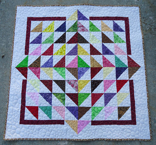 Lily Pad Baby Quilt Free Tutorial designed by Deanna of Wedding Dress Blue