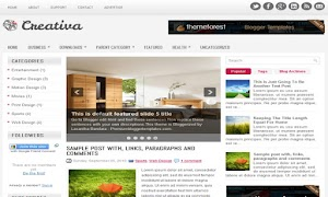Creativa 3 Column Blogger Template