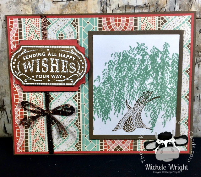 Card, Memorble Mosaic, Timeless Label Punch, Mosaic Mood Specialty Designer Series Paper