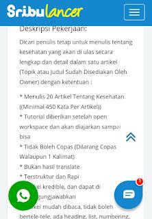 Mencari job menulis