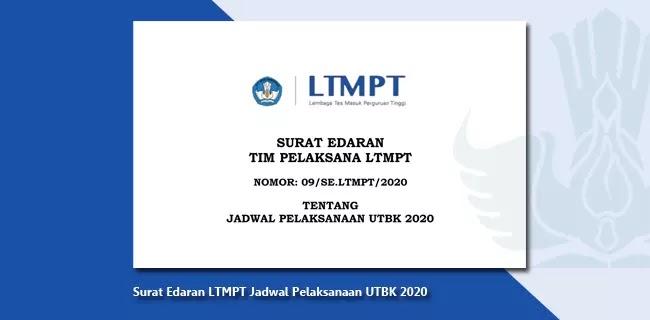 Surat Edaran LTMPT Jadwal Pelaksanaan UTBK 2020