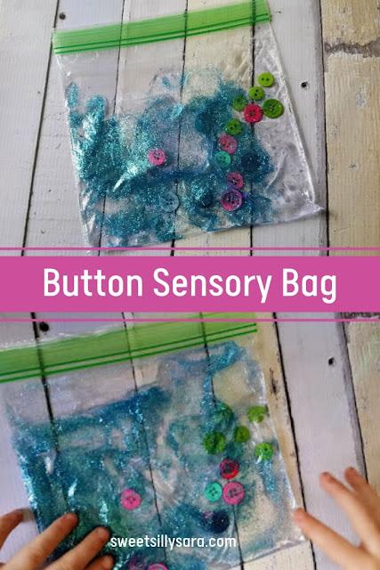 Hair Gel Button Sensory Bag