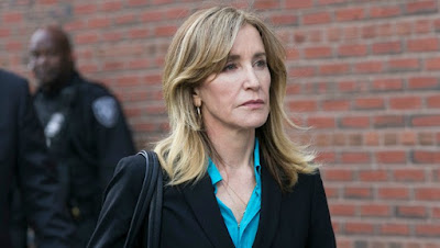 Felicity Huffman's picture after she released from jail