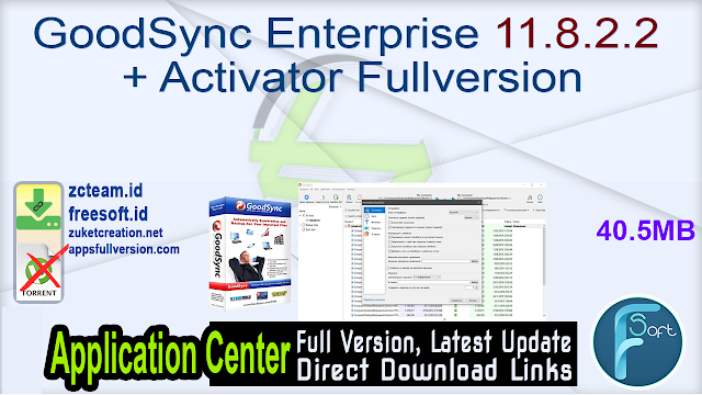 GoodSync Enterprise 11.8.2.2 + Activator Fullversion