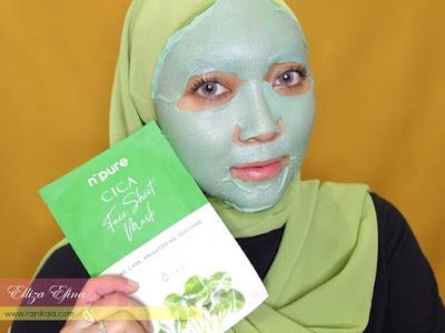 npure cica face sheet mask