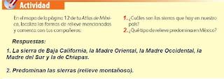 Respuestas Apoyo Primaria Geografía 4to. Grado Bloque II Lección 1 Desde las montañas hasta el mar