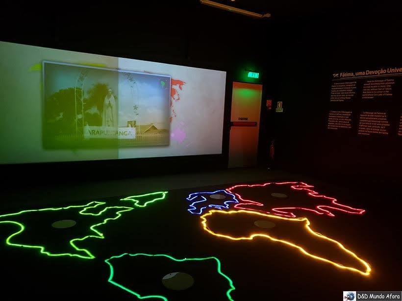 Uma das salas do Museu Interativo Milagre de Fátima - Diário de Bordo: Fátima, Óbidos e Nazaré