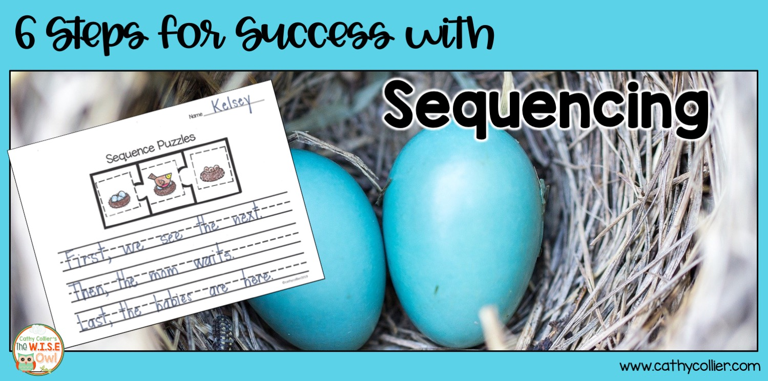 Here are 6 Steps for Success with Sequencing. Students are led through a variety of activities ranging from teacher directed to student led.