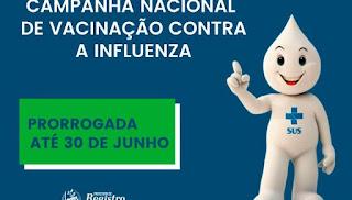 A Campanha Nacional Contra Influenza é prorrogada