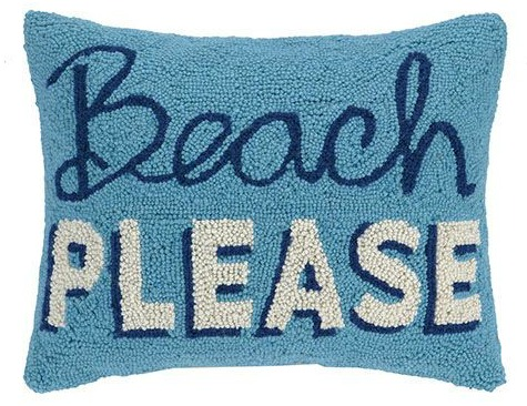 Hooked Beach Pillows with Quotes & Sayings - Completely ...