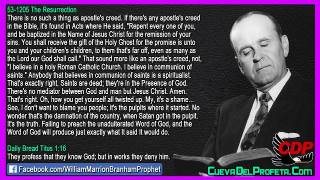 Anybody that believes in communion of saints is a spiritualist - William Branham Quotes