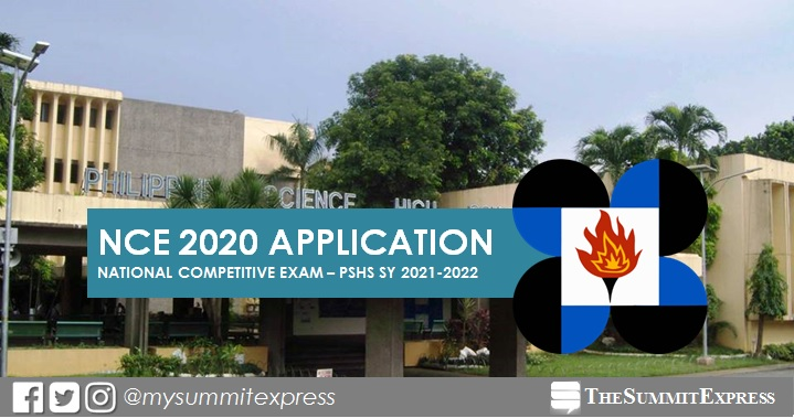 Philippine Science High School NCE 2020 application period, exam date