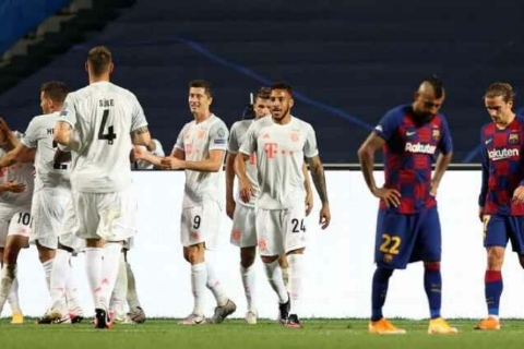 Bayern Munich crushes Barcelona to reach the Champions League semi-finals